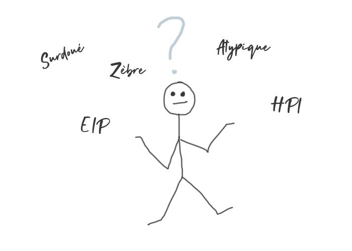 EIP surdoué zèbre atypique HPI