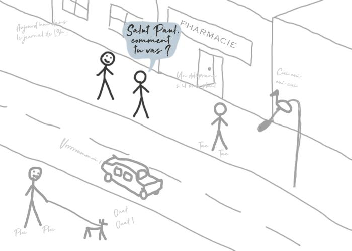 Stimulations externes dans la rue