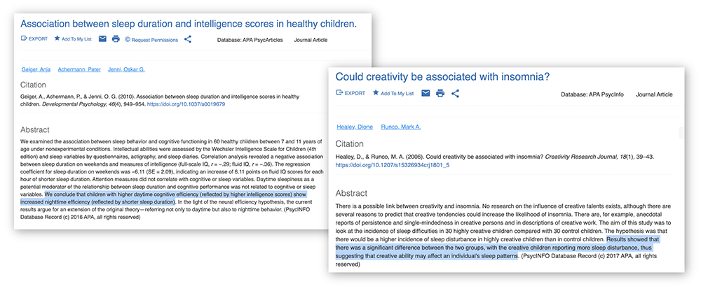 Healey, D., Runco, M. A. (2006). Could creativity be associated with insomnia? Creativity Research Journal, 18 (1), 39-43.